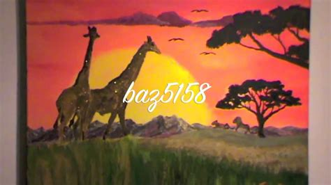 how to paint an African Sunset - YouTube