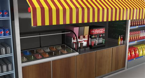 Outdoor Fast food Kiosk design with best price for sale