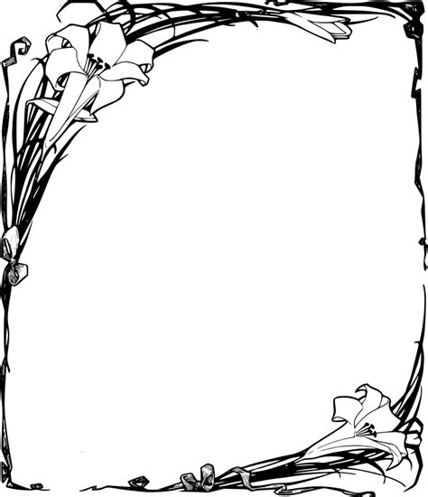 Clipart - Easter Lilies Frame