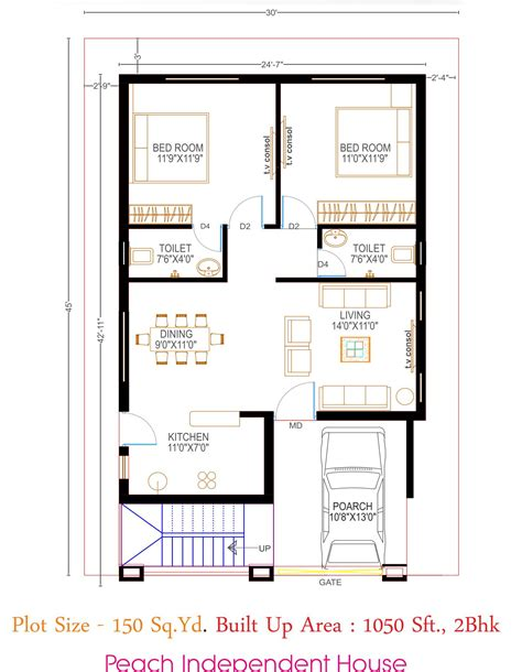 Image result for floor plan   2bhk house plan, 20x30 house
