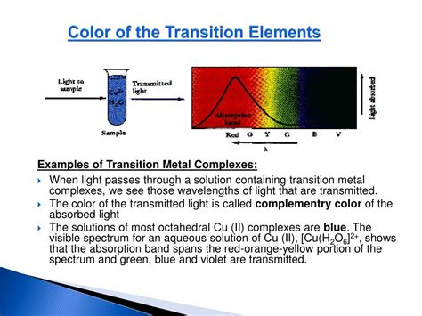 PPT - COLOR OF THE TRANSITION ELEMENTS PowerPoint