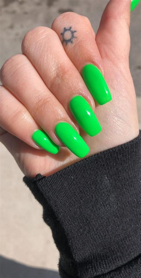 Shine Bright And Be A Spotlight With The Neon Green Nails
