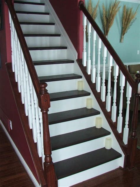 Remodelaholic | Under $100 Carpeted Stair To Wooden Tread