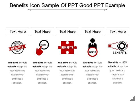 Benefits Icon Sample Of Ppt Good Ppt Example | PowerPoint