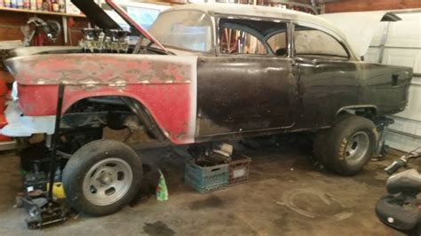 1955 chevy 210 post gasser project