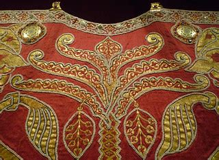 Coronation Mantle, detail of palm | Likely made under the