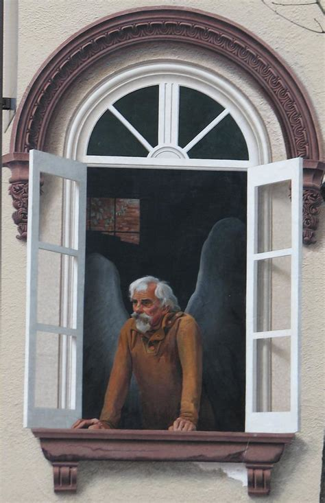 Downtown Frederick Angel Mural | One of several frescos