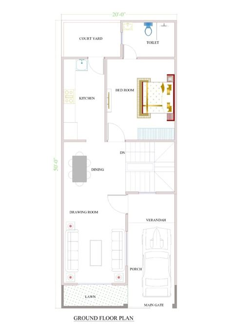 20x50 house plans for your dream house - House plans