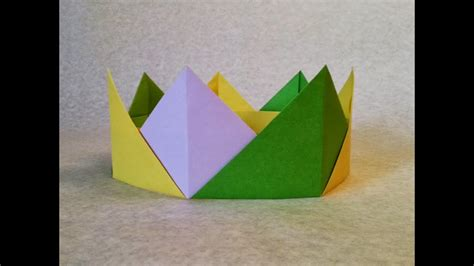 Easy Origami Crown Folding or Crown Paper Folding step by