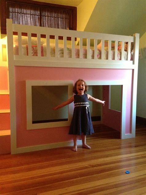Ana White   Playhouse loft bed with stairs - DIY Projects