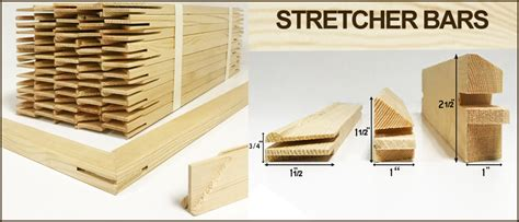 Canvas stretcher bars and canvas stretcher frames for oil