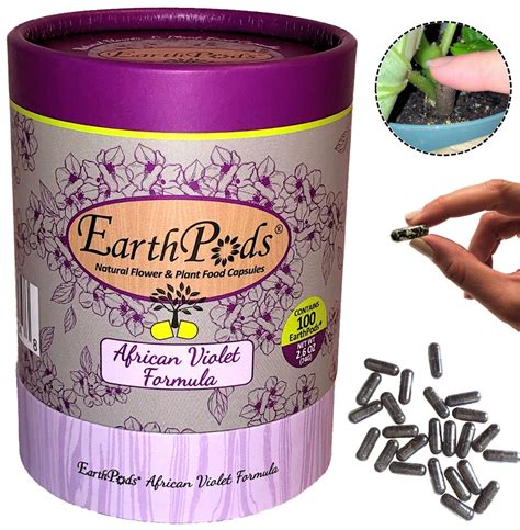 EarthPods® AFRICAN VIOLET Organic Plant Food Capsules