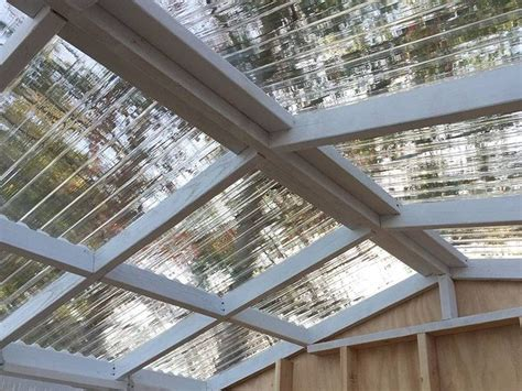 Greenhouse Shed roof with TUFTEX PolyCarb Clear panels