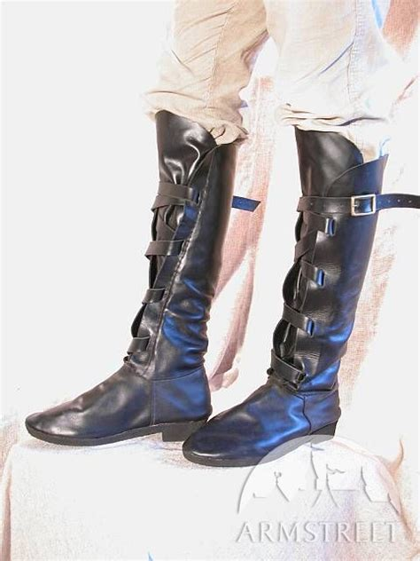 Handmade Medieval Fantasy Leather Boots for sca and