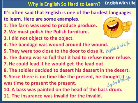 Why is English So Hard to Learn | Vocabulary Home